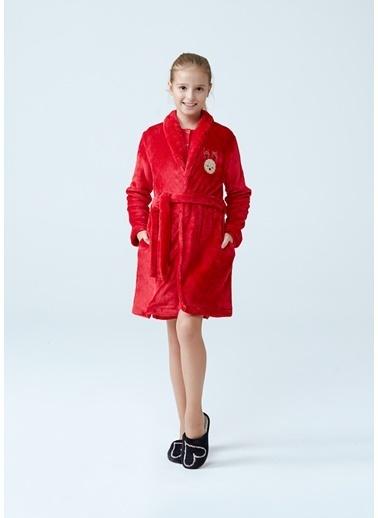 Dagi Kız Çocuk Polar Sabahlık Kırmızı